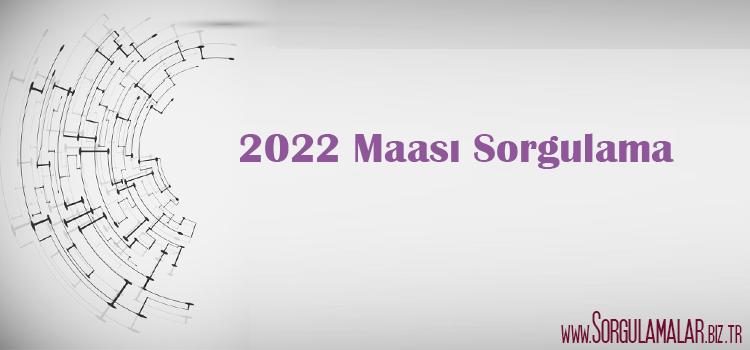 2022 maasi sorgulama